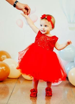 Детское платье + пинетки+ повязка2 фото