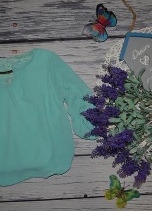 2 - 4 года фирменная блузка блуза рубашка для модниц с кружевом подворотом рукава