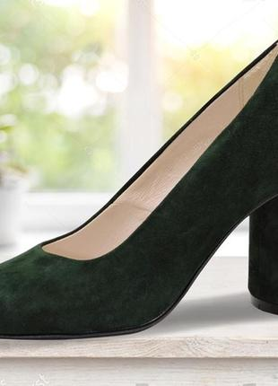"Женские туфли на каблуке ""eight"" зеленые"