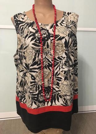 M&s топ блузка кофточка майка лён 20р. - 18р. большой размер