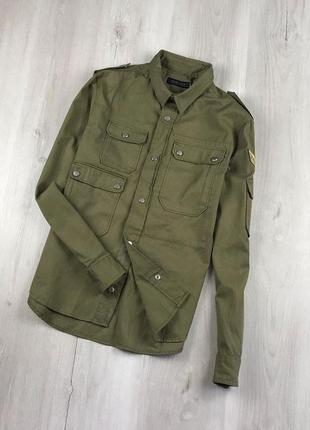 Крута рубашка-оверширт куртка от zara man. милитари стиль