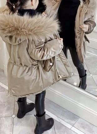 Модная куртка парка на девочку.новая коллекция