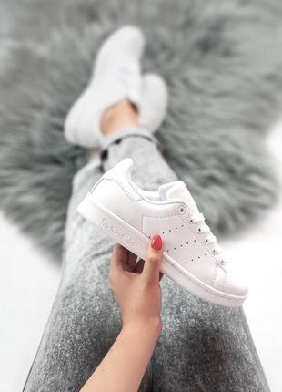 Шикарные женские кроссовки adidas stan smith full white 😍 (весна/ лето/ осень)