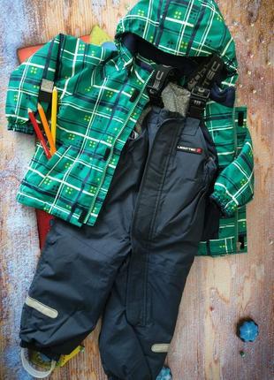Lego wear комплект зимний куртка и полукомбинезон 86+6