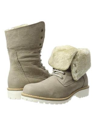 Зимние ботинки marco tozzi премиум линия , кожа,  р. 39