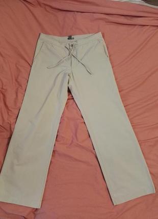 Комфортные туристические летние брюки от h&m, w33