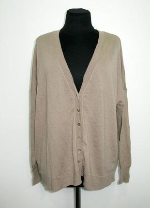 Шерстяной оверсайзный свитер кофта кардиган на зиму осень на пуговицах от part two