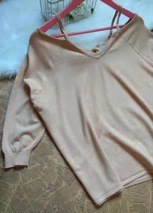 Трикотаный свитер бежевый . реглан 3/4 . кофта от asos