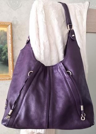 Большая брендовая кожаная сумка jimmy choo