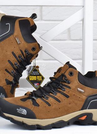 Ботинки мужские зимние кожаные the north face gore-tex натуральный мех