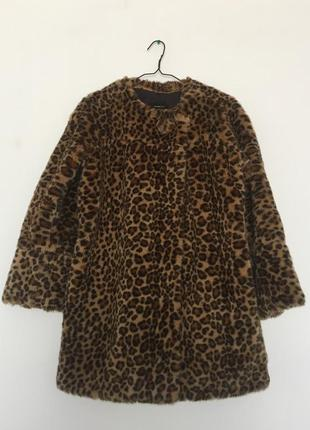 Принт сезона, леопардовая шуба mango suit