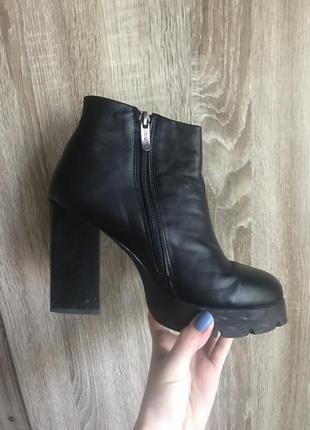 Ботинки осенние утеплённые