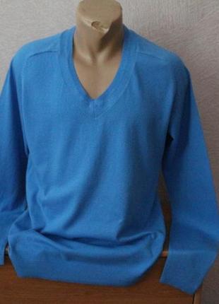 Reiss- пуловер классический, натуральный- хлопок+кашемир