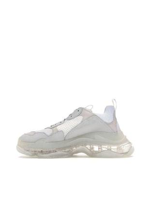 Женские кроссовки balenciaga triple s clear sole white