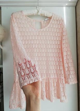 Кружевная  блуза в цвете зефир