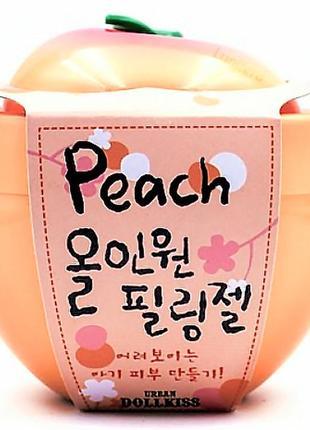 Пилинг-скатка персиковая peach all-in-one peeling gel от urban dollkiss