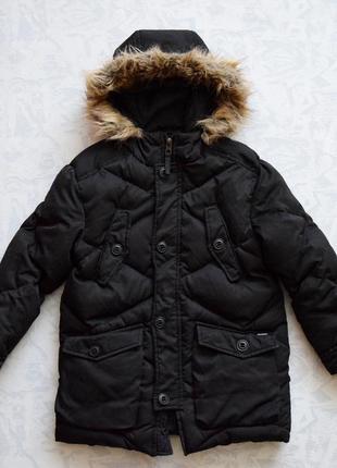 Натуральный пуховик zara, теплая куртка зимняя, куртка пуховая zara