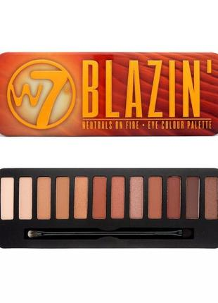 Палетка теней w7 blazin' eye colour palette