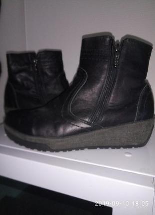 Кожаные удобные зимние ботинки