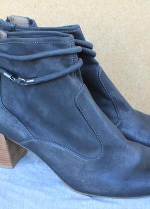 Новые ботинки ecco нубук (кожа) дания оригинал 42р ботильоны