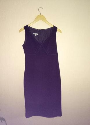 Осеннее строгое черное платье