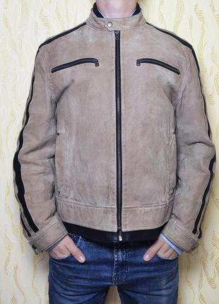 Куртка бомбер замшевая натур. кожаная осенняя authentic размер l-48-50