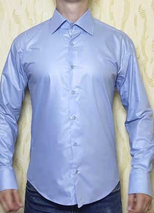 Рубашка серо-голубая rodisa made in turkey размер l 48-50 без торга