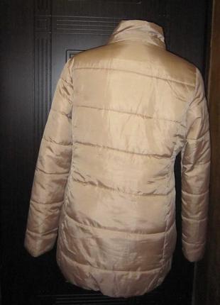 Акционная цена10-12.09! обалденная куртка зефирка! золотая пудра2 фото