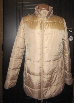 Акционная цена10-12.09! обалденная куртка зефирка! золотая пудра4 фото