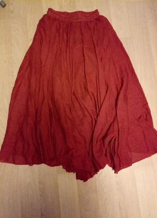 Двухслойная легкая юбка