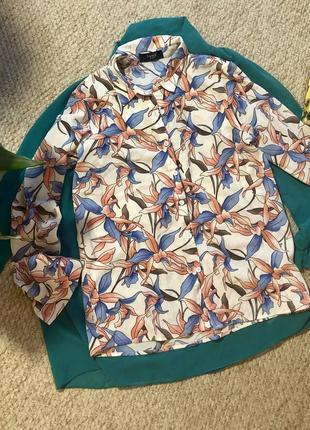 Брендовая блуза в цветочный принт 💥