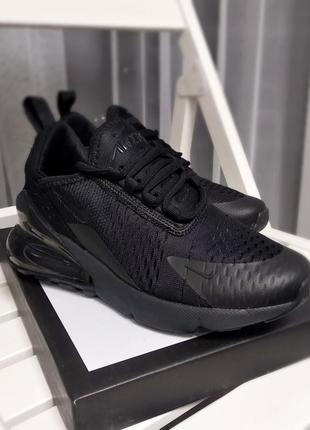 Шикарные кроссовки nike air max 270 black чёрные