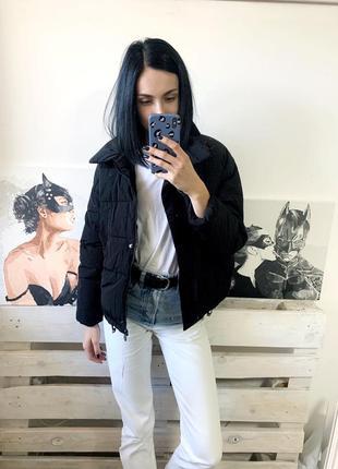 Новая чёрная дутая курточка