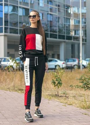 Яркий , стильный спортивный костюм {турция} размер xl хлопок ,хит 2019 качество супер