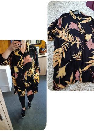 Стильная удлиненная рубашка туника, zizzi, p  12-16