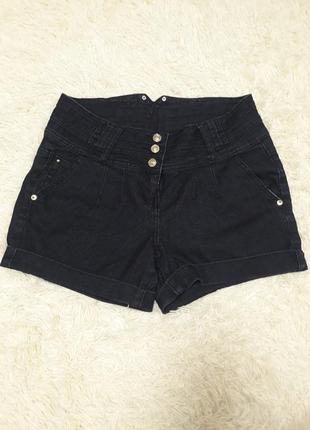 Шорти джинсові темно-сині