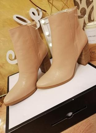 Стильные ботинки из кожи nine west