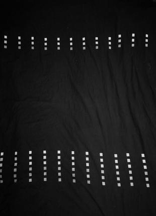 Стильный, ппододеяльник черный, с белой отделкой. 190х195