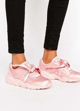 Кроссовки с бантами  в стиле fenty x puma adidas