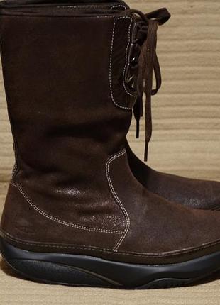 Великолепные комбинированные коричневые фирменные фитнес сапожки mbt швейцария 37 р.