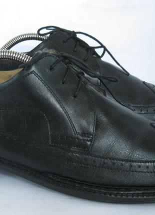 - фирменные кожаные легкие туфли броги - paulog- 45 -