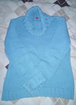 Теплый голубой свитер esprit