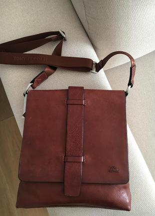 Кожаная барсетка сумка италия tony perotti