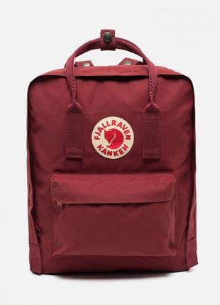 Стильный женский рюкзак fj. kanken бордовый