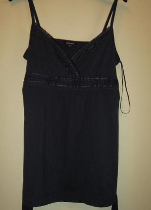 Акция 1+1=3 распродажа трикотажная синяя блуза маечка papaya котон размер 12