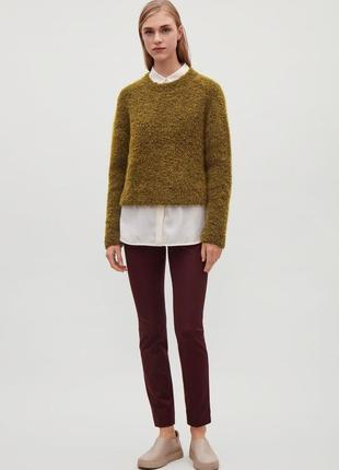 Текстурный мохеровый свитер cos 581059003