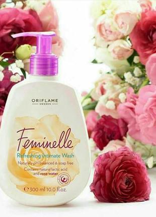 Освіжаючий засіб для інтимної гігієни з трояндовою водою feminelle