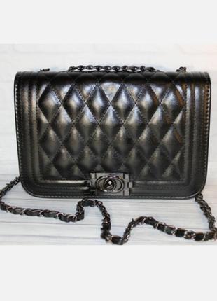 Стильная чёрная сумочка шанелька 💎 +видеообзор!!!