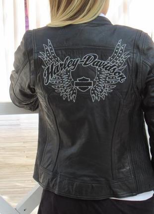 Кожаная куртка harley davidson женская, размер xs.оригинал!