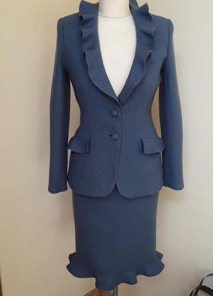 Шерстяной костюм , франция , шерсть 100%